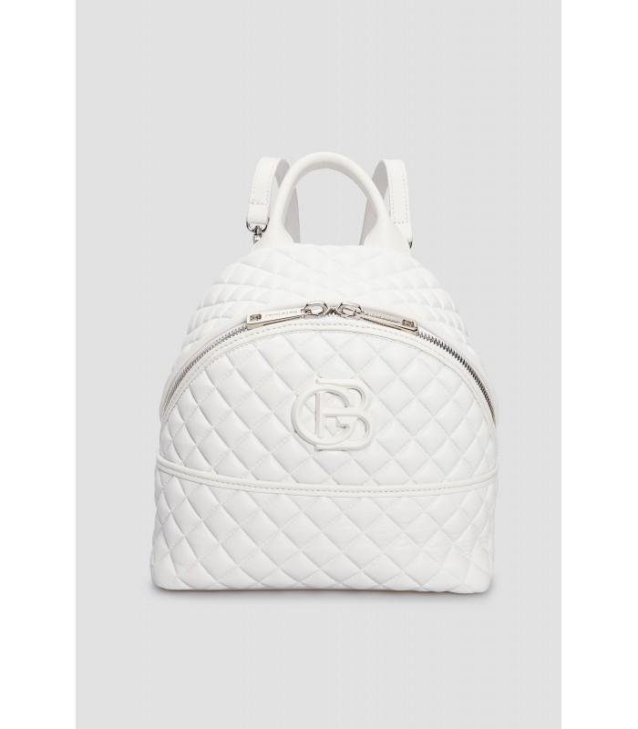 Рюкзак білий з прострочкою