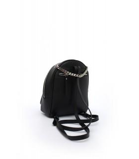 Рюкзак чорний маленький з натуральної фактурної шкіри 1 - Respected-Person