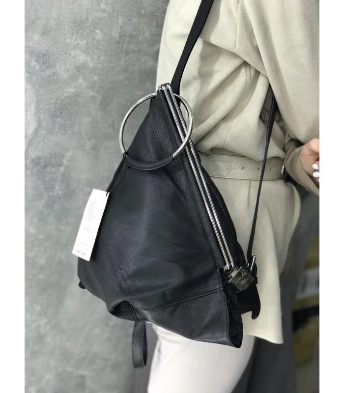 Рюкзак чорний трикутний-трансформер
