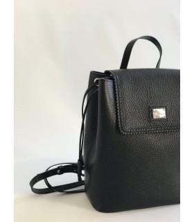 Рюкзак чорний з натуральної фактурної шкіри 1 - Respected-Person