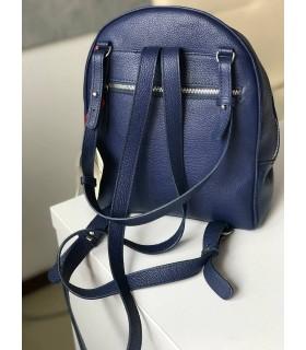 Рюкзак синій з фактурної шкіри 1 - Respected-Person
