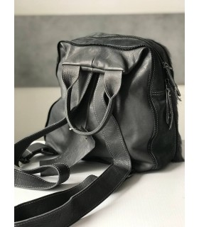 Рюкзак сірий з хутром 1 - Respected-Person