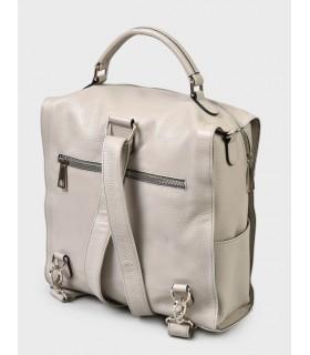 Сумка-рюкзак сіра з фактурної шкіри 1 - Respected-Person