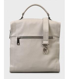 Сумка-рюкзак сіра з фактурної шкіри - Respected-Person