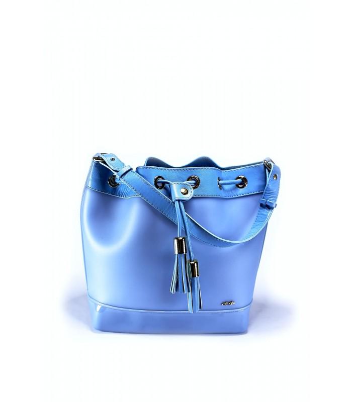 Сумка-відро блакитна силіконова