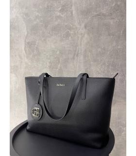 Шопер чорний з логотипом - Respected-Person