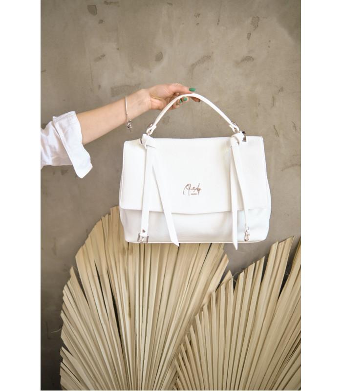 Сумка-портфель середня біла