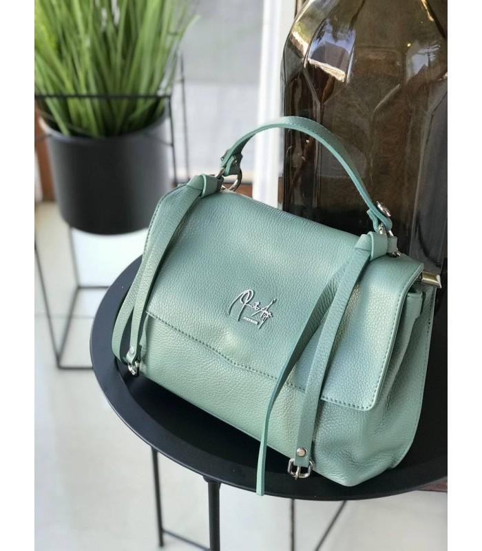 Сумка-портфель середня кольору м`яти