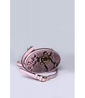Сумка на пояс рожева із вставками з пітону - Respected-Person