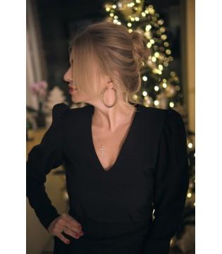 """Сукня чорна з плечами """"фонарик"""""""