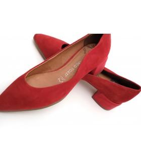 Туфлі червоні замшеві з фігурним вирізом 1 - Respected-Person