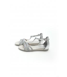 Босоніжки срібні  з плетінням - Respected-Person