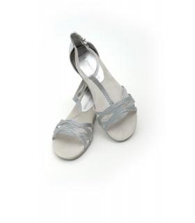 Босоніжки срібні  з плетінням 1 - Respected-Person