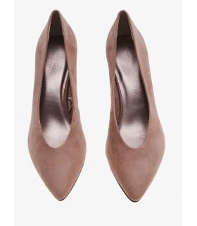 Туфлі бежеві замшеві на широкому каблуку 1 - Respected-Person