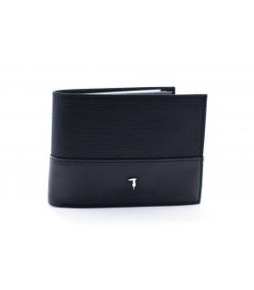 Портмоне чорне з логотипом Trussardi - Respected-Person