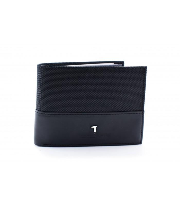 Портмоне чорне з логотипом Trussardi