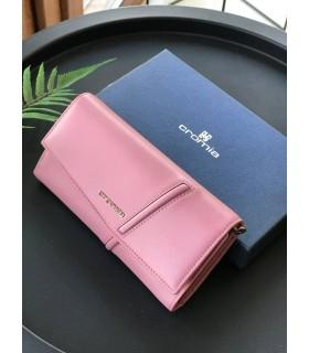 Гаманець пильно-рожевий з натуральної шкіри з ланцюжком - Respected-Person