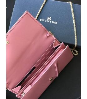 Гаманець пильно-рожевий з натуральної шкіри з ланцюжком 1 - Respected-Person