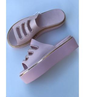 Шльопанці рожеві силіконові на платформі 1 - Respected-Person