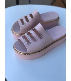 Шльопанці рожеві силіконові на платформі - Respected-Person