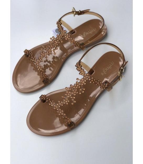 Босоніжки коричневі з камінням силіконові - Respected-Person