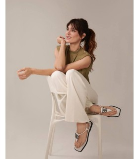 Босоніжки білі зі шнурівкою та лого 1 - Respected-Person