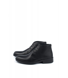Черевики чорні класичні з натуральної шкіри на шнурівці - Respected-Person