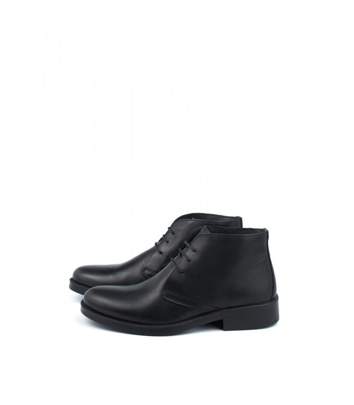 Черевики чорні класичні з натуральної шкіри на шнурівці