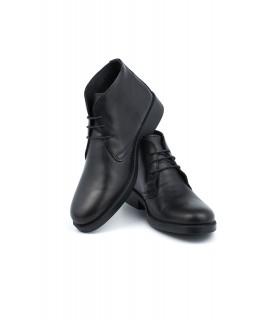 Черевики чорні класичні з натуральної шкіри на шнурівці 1 - Respected-Person