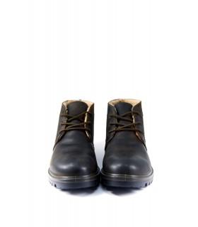 Черевики коричневі з натуральної вінтажної шкіри  1 - Respected-Person