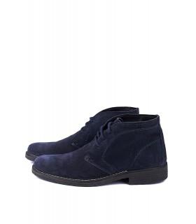 Черевики сині замшеві на шнурівці - Respected-Person