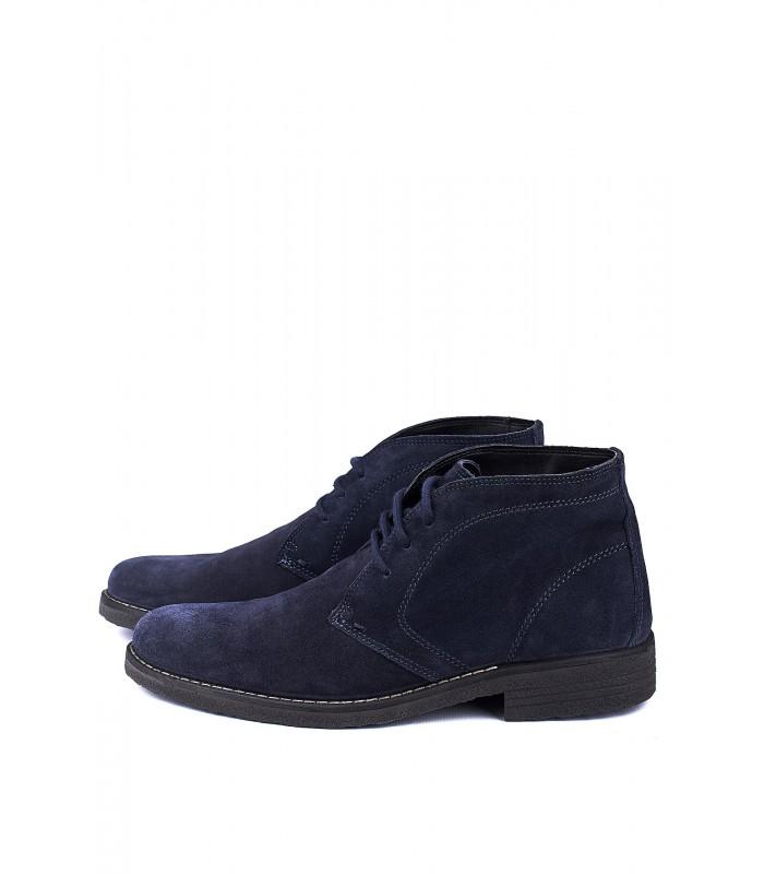Черевики сині замшеві на шнурівці