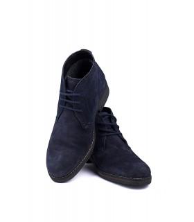 Черевики сині замшеві на шнурівці 1 - Respected-Person