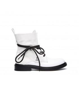 Черевики білі комбіновані на чорній шнурівці 1 - Respected-Person