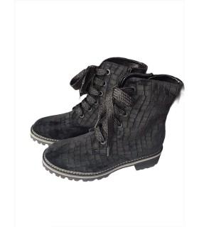 Черевики чорні оксамитові на шнурівці - Respected-Person