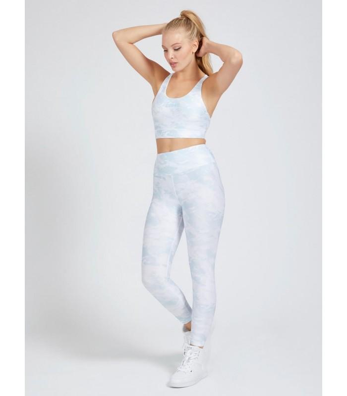 Легінси білі в блакитні розводи