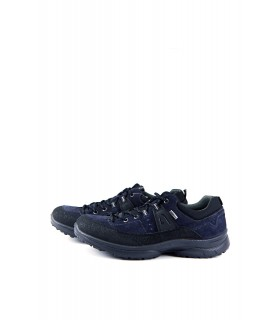 Кросівки чоловічі сині з натуральної шкіри - Respected-Person