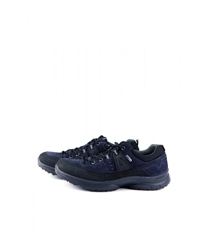 Кросівки чоловічі сині з натуральної шкіри