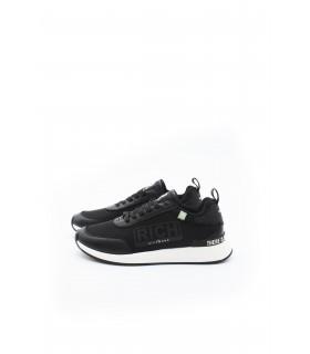 Кросівки чорні з текстилю та шкіри - Respected-Person