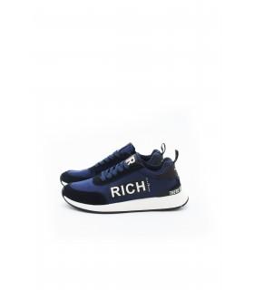 Кросівки сині з текстилю та замши - Respected-Person