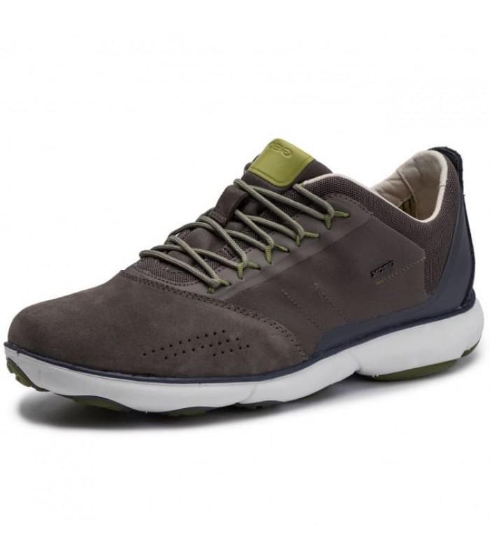 Кросівки коричневі з синім задніком