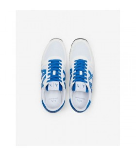 Кросівки білі з синім логотипом 1 - Respected-Person