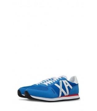 Кросівки сині чоловічі з білим логотипом