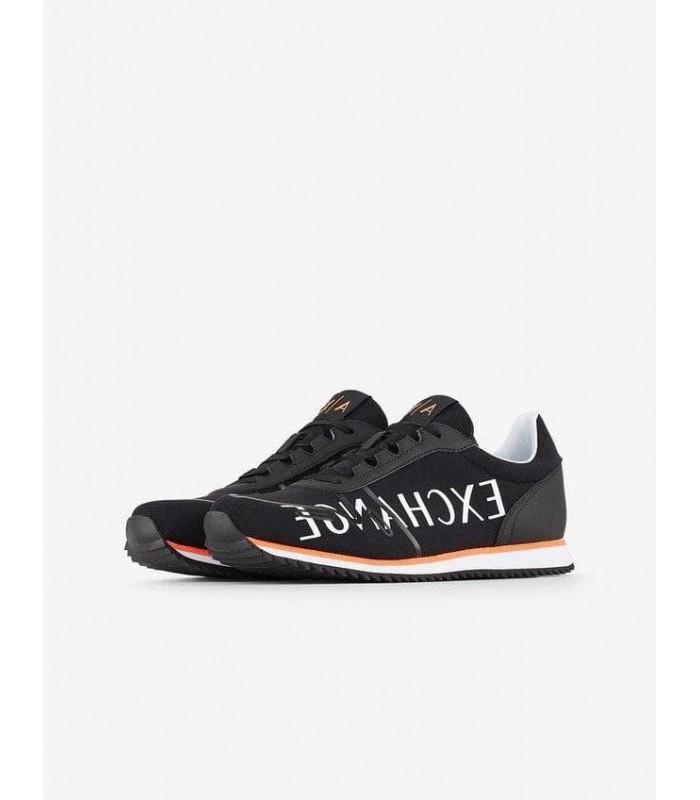 Кросівки чорні чоловічі з оранжевою смужкою