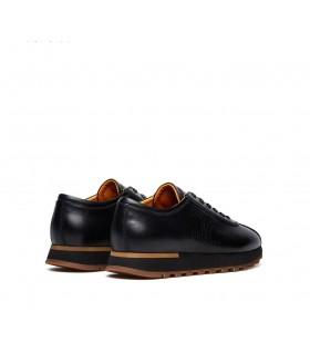 Кросівки чоловічі чорні з коричневим з натуральної шкіри 1 - Respected-Person