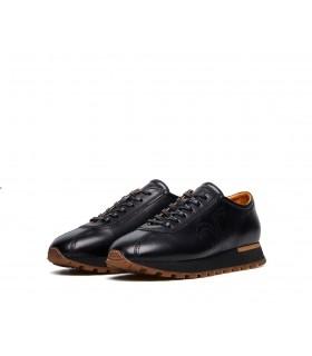 Кросівки чоловічі чорні з коричневим з натуральної шкіри - Respected-Person