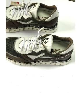 Кросівки коричневі з вставками з текстилю 1 - Respected-Person