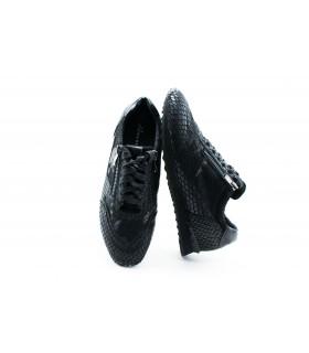 Кросівки чорні з натуральної шкіри під рептилію 1 - Respected-Person