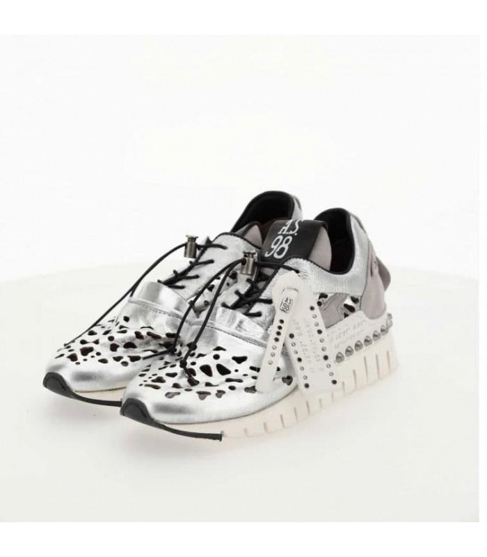Кросівки срібні комбіновані
