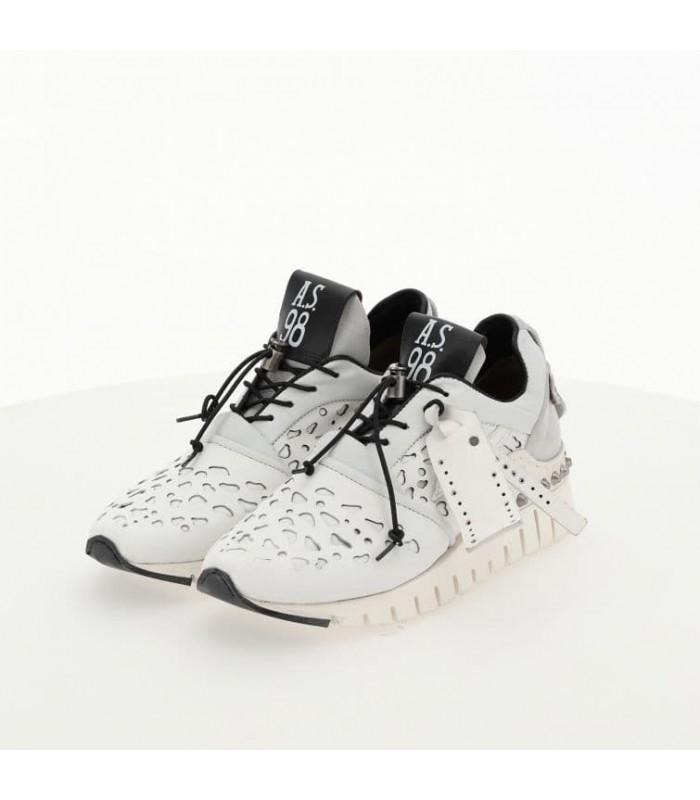 Кросівки білі з сірим з перфорацією